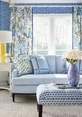 Thibaut Windsor Fabric in Blue and Yellow